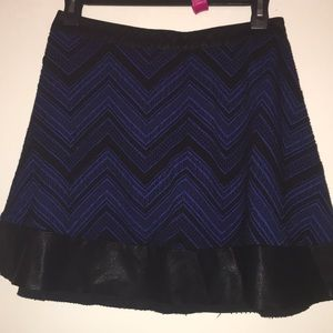 Blue and black short skirt